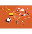 Digital marketing set vector