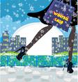 Christmas shopping - winter sale card vector