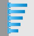 Blue folded paper navigation menu vector