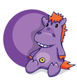 Soft fun toy smiling hippo vector