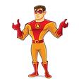 Handsome superhero regret vector