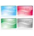 Set of glossy business cards vector