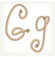 Rope alphabet letter g vector