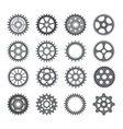 A set of gears and pinions on a white background vector