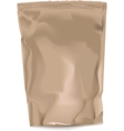 Blank paper bag for coffee vector