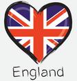 Love england flag vector