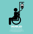 Disabled sickness sign vector