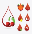 Medic creative blood drops set vector