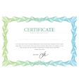 Certificate template that is used in currency and vector
