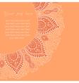 Decorative vintage design element with lacy frame vector