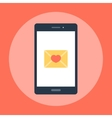 Love message on the phone vector