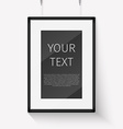 Realistic frame perfect for your presentations vector