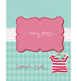 Greeting baby card - with place for your photo and vector
