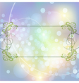 Festive floral frame vector