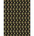 Gold pattern on black background 4 vector