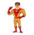 Handsome superhero thumb up vector