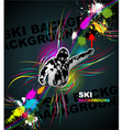 Ski abstract background vector