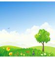 Spring scenery vector
