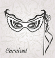 Venetian carnival or theater mask with ribbons vector