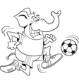 Cartoon soccer elephant vector