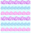 Abstract seamless pattern with sweet cream stripes vector