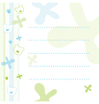 Teddy bear note paper vector
