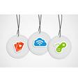 Hanging gaming badges set vector