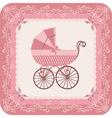 Baby girl carriage vector