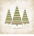 Vintage card with christmas trees vector