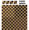 4 circle and square patterns wood chocolate colors vector