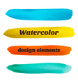 Hand drawn stripes watercolor design elements vector