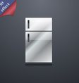 Refrigerator icon symbol 3d style trendy modern vector