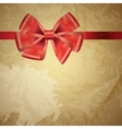 Background with bow on realistic paper vector