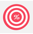 Target with percent sign vector