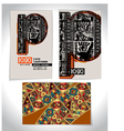 Ancient business card design letter p vector