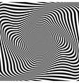 Abstract op art background vector