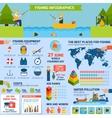 Fishing infographics set vector