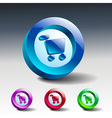 Icon buy basket retail shop vector
