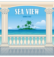 Wonderful sea view vector