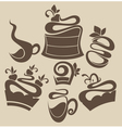 Cakes and sweets silhouettes vector