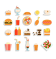 Set of fast food icons vector
