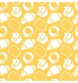 Seamless pattern outline delicious pastries vector
