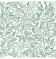 Seamless pattern stylized leaves vector