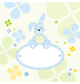 Bunny rabbit background vector