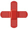 Red cross - adhesive bandage vector