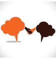 Handshake and join venture between people vector