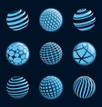 Blu planet icons vector