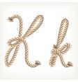 Rope alphabet letter k vector