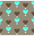 Seamless pattern with many colorful hearts vector
