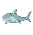 Big smiling swimming shark vector